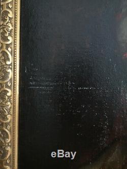 PEINTURE À L'HUILE SUR TOILE ÉPOQUE XVIIIè PORTRAIT DE CLÉMENT XIII RELIGIOSA