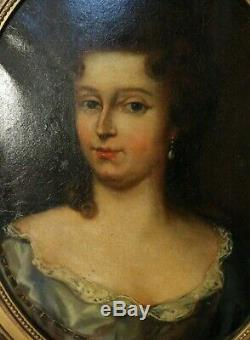 PEINTURE HUILE PORTRAIT DE JEUNE FEMME DE QUALITE Fin XVIIIe