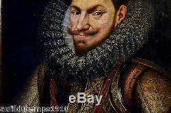 PORTAIT'GUILLAUME D'ORANGE 1554-1618' ECOLE HOLLANDAISE HUILE TOILE CADRE DUTCH