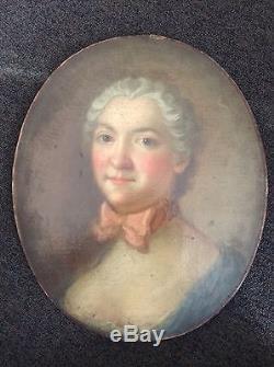 PORTRAIT DE FEMME. XVIIIe SIÈCLE. HUILE SUR TOILE