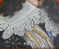 PORTRAIT DE GENTILHOMME. Belle peinture sig
