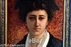 Portrait Femme Qualite Impressionnisme Huile Vers 1880 Peinture Tableau Ancien