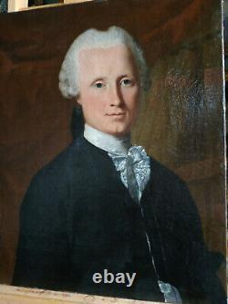 PORTRAIT HOMME NOBLE EPOQUE XVIII ème, 18ème siècle Huile sur toile