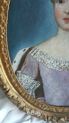 PORTRAIT PRINCESSE EPOQUE FIN XVII ème, début XVIIIème siècle Huile sur toile
