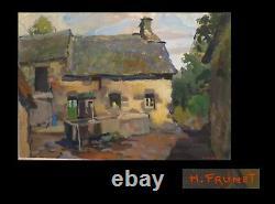 PRUNET (H.) Grande huile sur toile, signée + Cadre Montparnasse