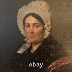 Paire de portraits de notables
