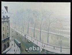 Paris France Quai Conti Huile d'après Albert Marquet musée Bordeaux fauvisme