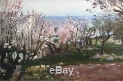 Paul SAÏN (1853-1908) Arbres en fleurs. Huile sur toile. V315
