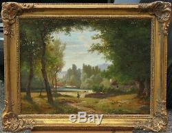 Paysage du Doubs, Antonin Fanart (1831-1903), Franche-Comté, Besançon
