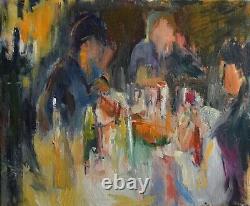 Peinture à l'huile sur toile signée Josette Zenatti (1930-2008) LE REPAS