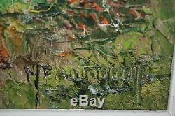 Peinture / huile sur toile paysage breton de bord de mer signé