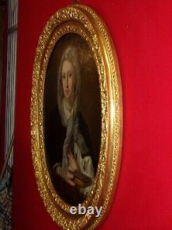 Peinture portrait de Marie Victoire de Savoie-Carignan (1690-766) HST