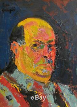 Pierre Ambrogiani. Autoportrait Huile sur toile v677