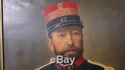 Portrait Colonel Armee Francaise 47 Eme Regiment Infanterie 1870 Huile A633