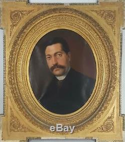 Portrait De Fran Paera. Huile Sur Toile. Cadre De Temps. 1888