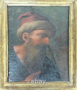 Portrait De L'homme. Huile Sur Toile. Unsigned Xviiie-xixe Siècle