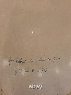 Portrait De Mme Roland, Personnalité Politique Française, huile sur toile
