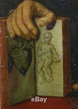 Portrait Homme Epoque Empire Nicolaus Enefs 1808 Huile sur toile Anatomiste