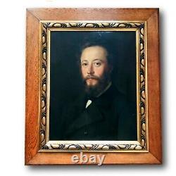 Portrait Homme Huile sur Toile XIXéme Ecole Française 70cm x 60cm