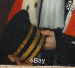 Portrait Magistrat début XIXème siècle Huile sur toile Ecole Française