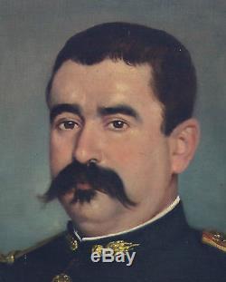 Portrait Officier Huile sur toile XIXème siècle Second Empire Médaille militair