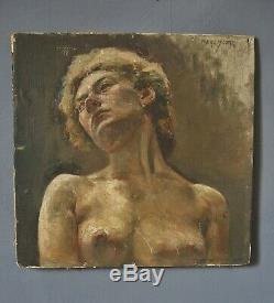 Portrait à l'huile signé Isaac Perlmutter (1866-1932)