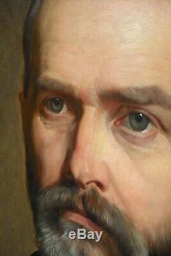Portrait à l'huile signée 1885, 70,5 x 60,5 cm Monogramme H C 1885
