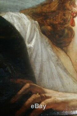 Portrait allongé de Bartoloémo di Giuliano Annotations au dos 19 ème HST