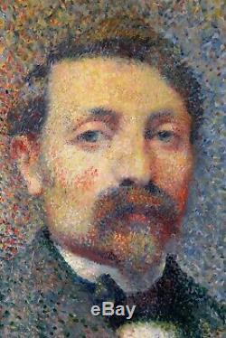 Portrait, autoportrait, tableau, peinture, Signac, Seurat, Luce, pointillisme