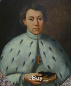 Portrait d'Homme d'Eglise Ecole Française du XVIIIème siècle Huile sur Toile