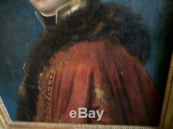 Portrait d'Officier chasseur 4ème régiment de Hussard Epoque EMPIRE 1804-1812