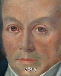 Portrait d'homme Ecole Française du XIXème siècle Huile sur toile Louis Philipp