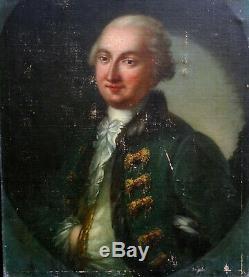 Portrait d'homme Ecole française Huile sur Toile du XVIIIème siècle