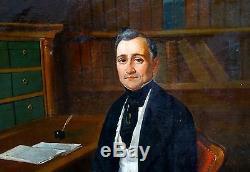 Portrait d'homme Epoque Restauration Huile sur toile Louis Philipp XIXème siècle