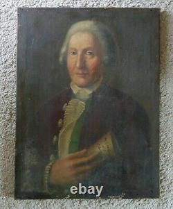 Portrait d'homme, Magistrat, huile sur toile, XVIIIème siècle