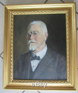 Portrait d'homme XIXè siècle Huile sur Toile 2