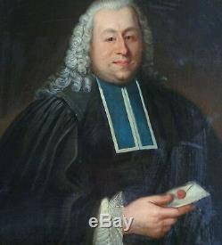 Portrait d'homme avaocat Ecole Française du XVIIIème siècle Huile sur toile