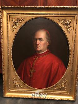 Portrait d'un Evèque, Huile sur Toile, Epoque XVIIIe