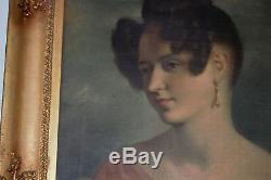 Portrait d'une dame contre ciel bleu REGENCY PÉRIODE vers 1830