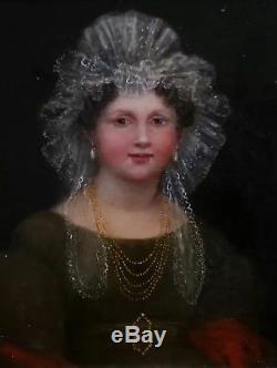 Portrait de Dame à la coiffe /huile sur toile/vers 1830