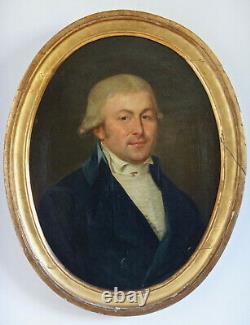 Portrait de Gentilhomme en redingote époque XVIIIe Directoire