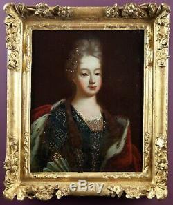 Portrait de Marie-Louise-Gabrielle de Savoie. Ecole Française du XVIIIème siècle