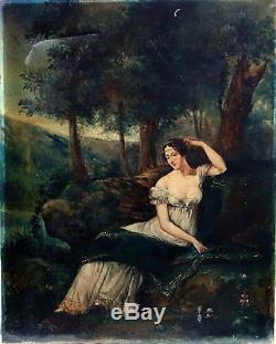 Portrait de femme Ecole Française du XIXème siècle Huile sur toile