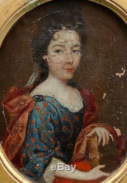 Portrait de femme Ecole Française du XVIIème siècle Huile sur toile