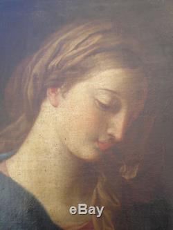Portrait de femme Huile sur toile du XVIIIème siècle