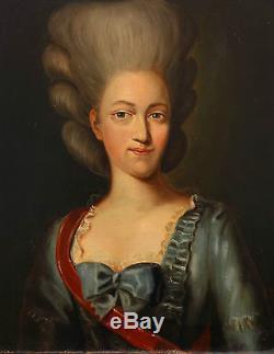 Portrait de femme Louis XVI Ecole Française du XIXème siècle Huile sur toile