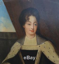 Portrait de femme XVIIèmeEcole française fin du XIXème siècle Huile sur Toile