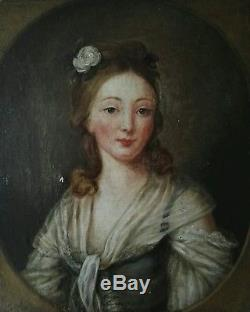 Portrait De Femme Huile Sur Toile Tableau