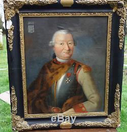 Portrait de gentilhomme en cuirasse vers 1735 Huile sur toile XVIIIème siècle