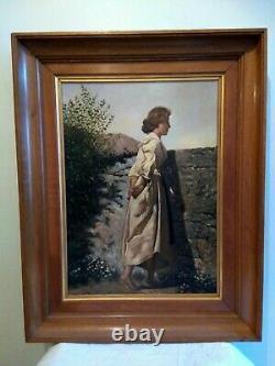 Portrait de jeune femme, huile sur toile